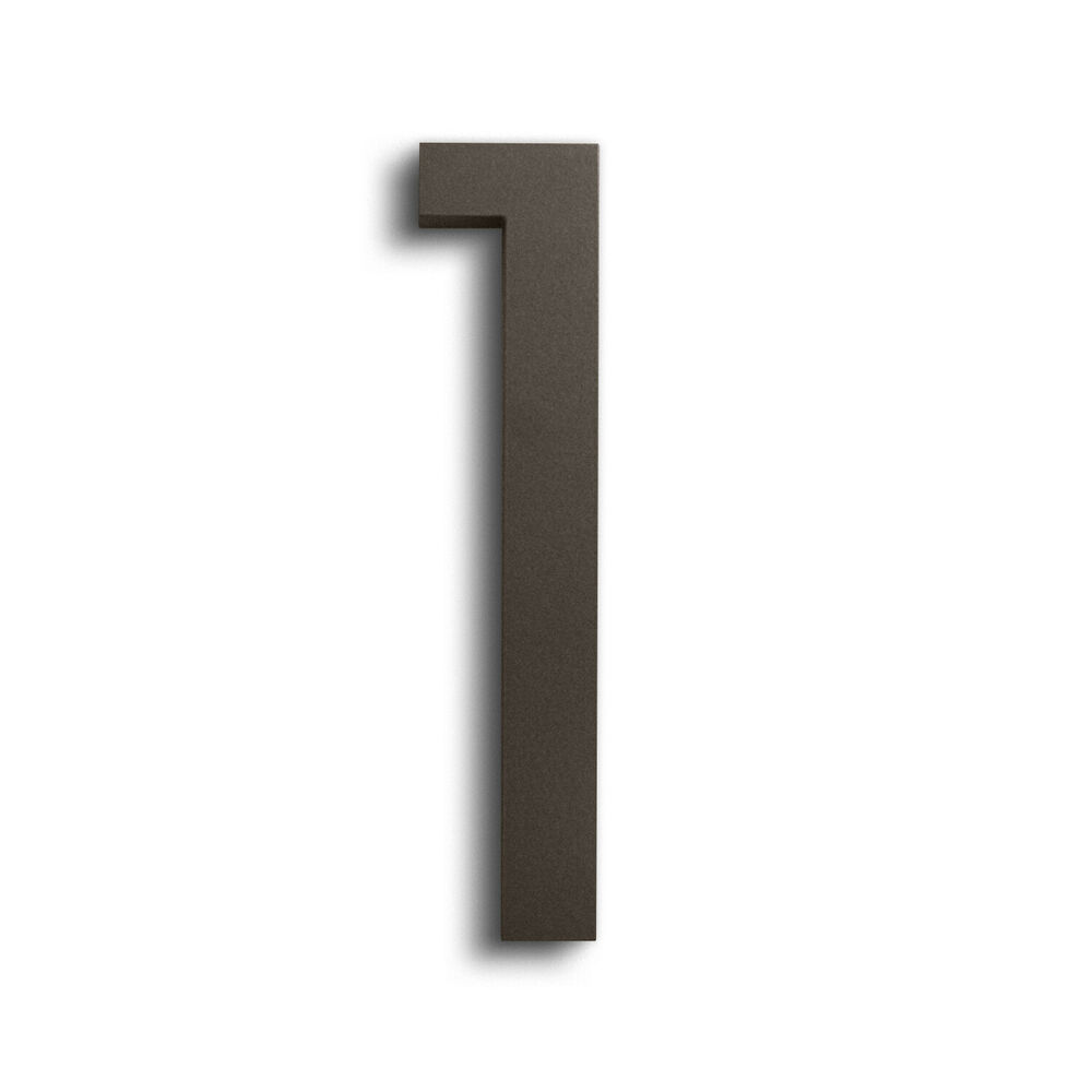 Modern house number bronze color aluminum modern font for Modern house numbers