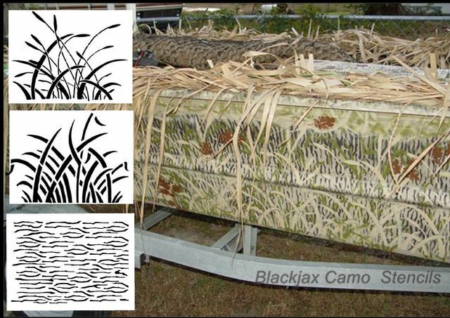Camo wetlands large set airbrush stencil camouflage ebay for Camo paint template