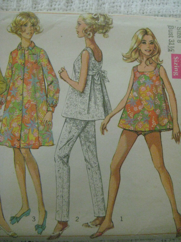 Vintage Simplicity 7652 Maternity Bathing Suit Coat Dress