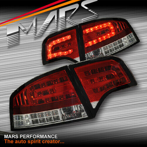 AUDI A4 S4 RS4 S-Line B7 05-08 Sedan Clear Red LED Tail