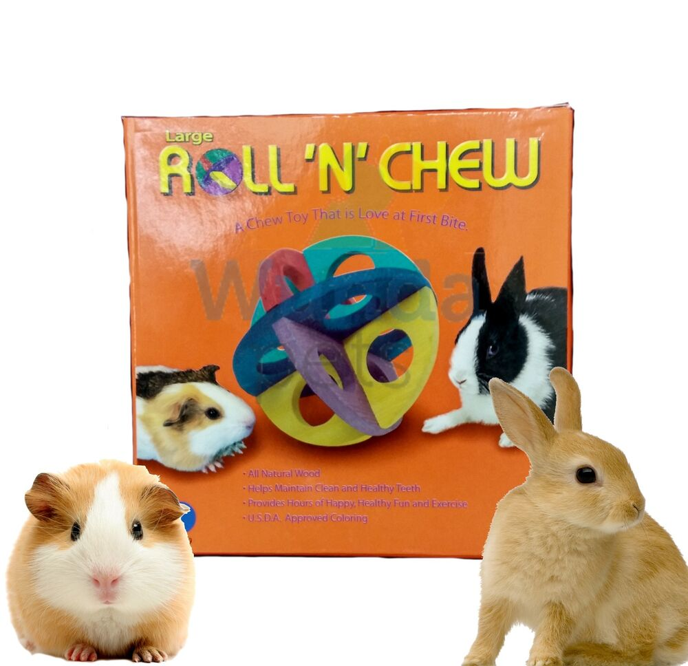 Superpet roll n chew rabbit guinea pig large wooden cage for Super pet hutch
