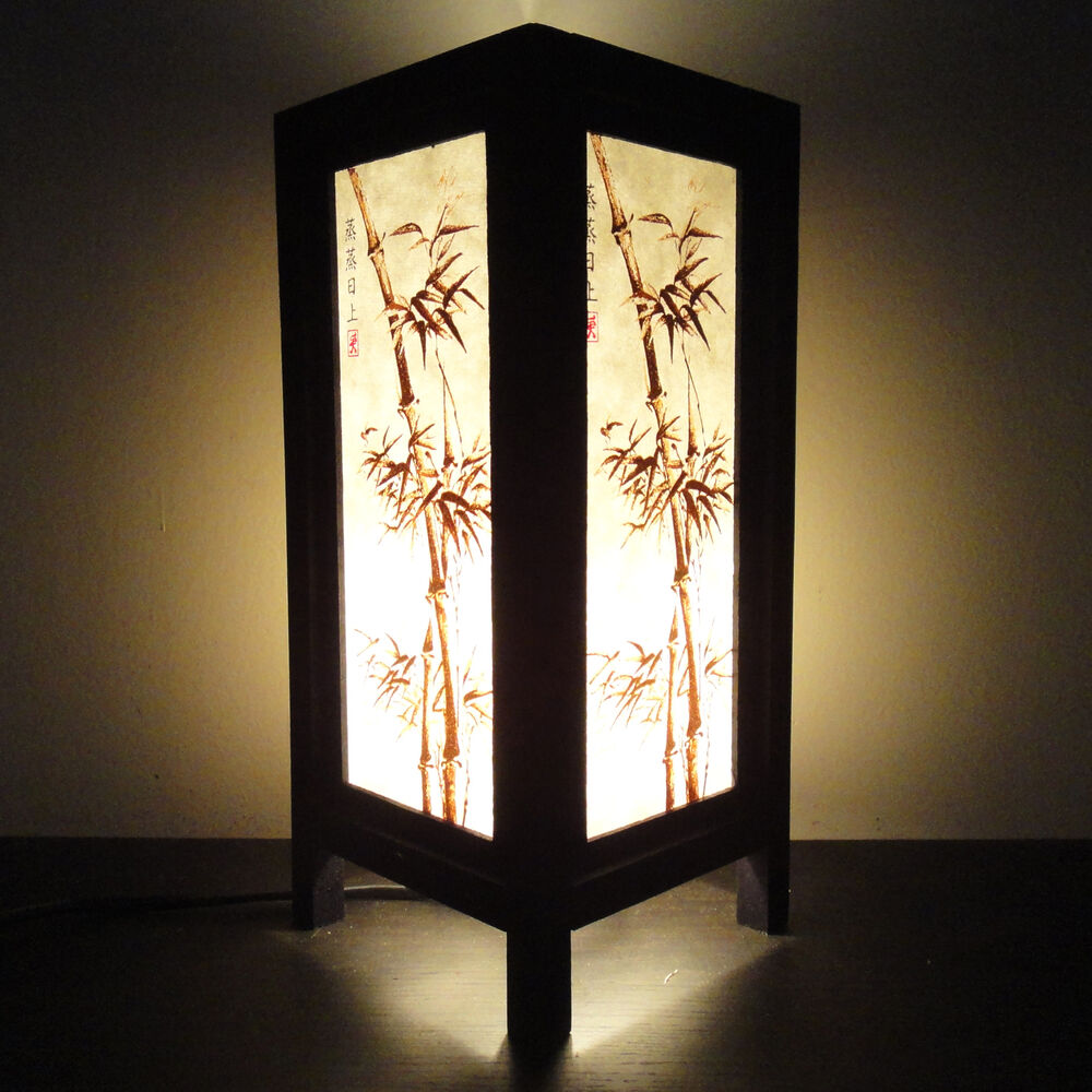 Asian Oriental Japanese Bamboo Trees Art Bedside Or Table