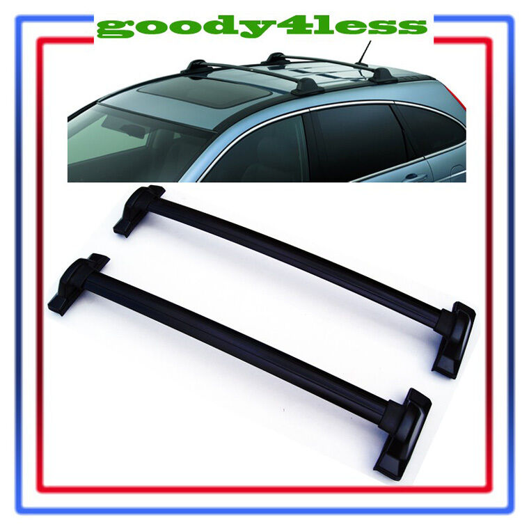 For 2007-2011 Honda CRV Black Roof Top Rail Rack Cross Bars Carrier | eBay