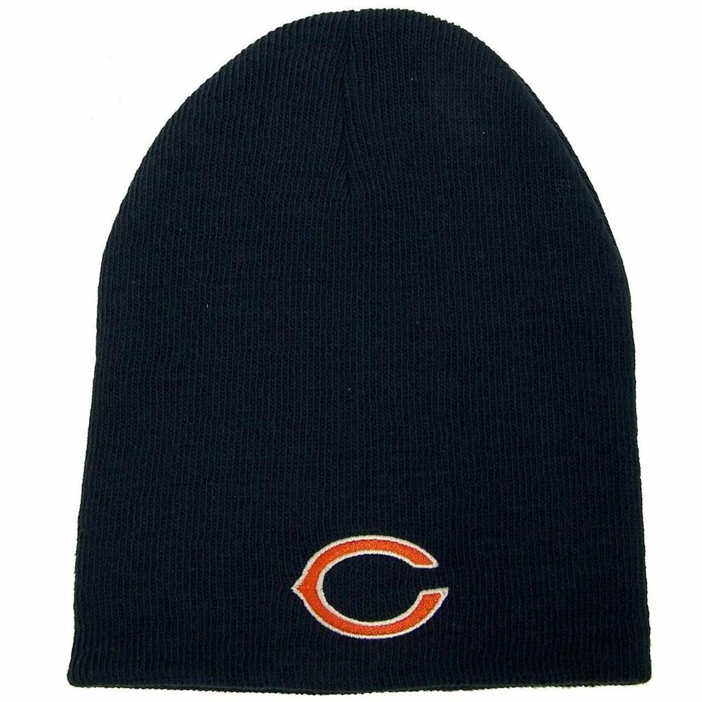 chicago bears knit beanie hat official logo winter cap. Black Bedroom Furniture Sets. Home Design Ideas