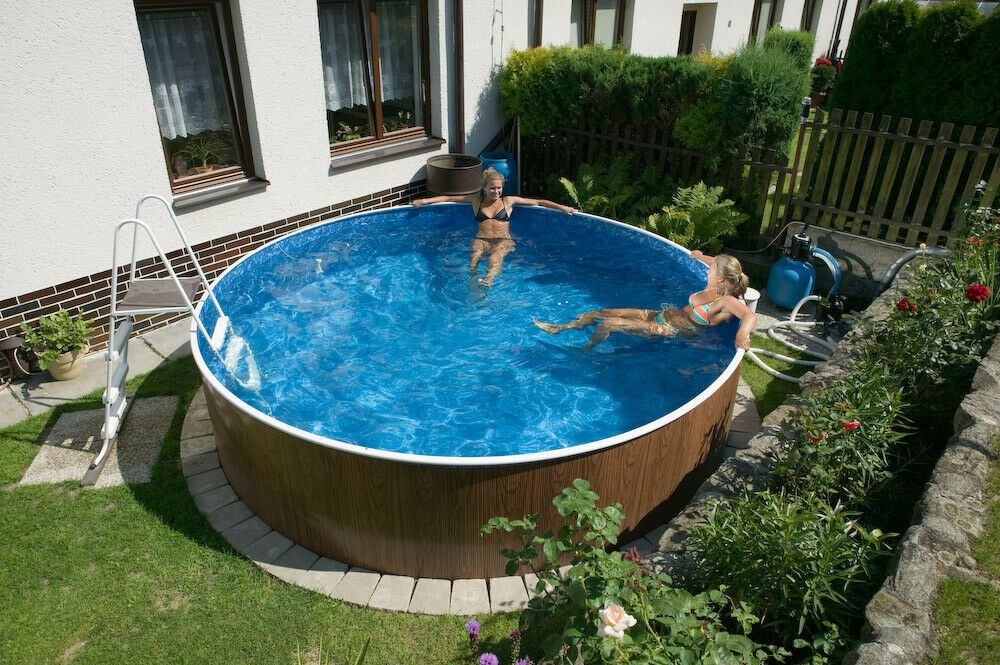 schwimmbad pool stahlwandbecken rundpool 4 60 x 1 10 m. Black Bedroom Furniture Sets. Home Design Ideas
