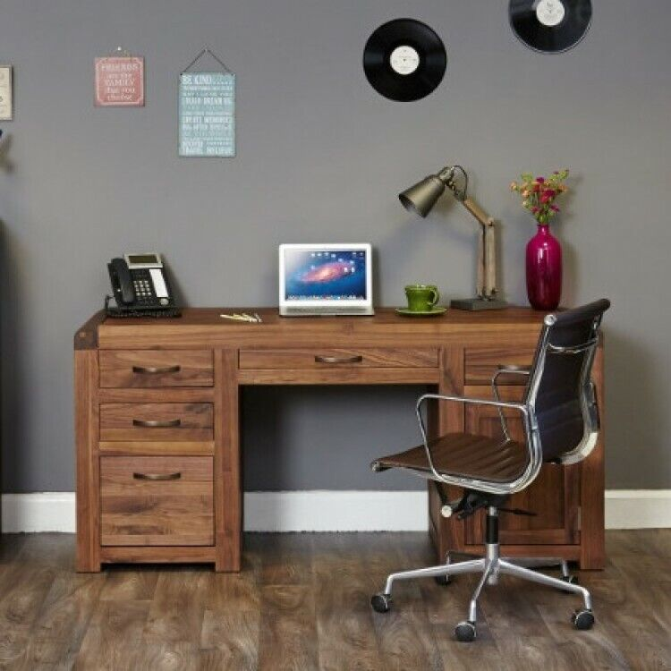 Bentley Walnut Solid Wooden Home Office Furniture Twin