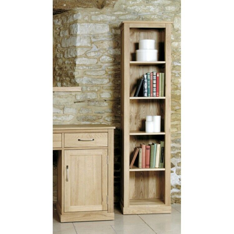 Fusion Solid Oak Wooden Furniture Narrow Slim Tall Storage
