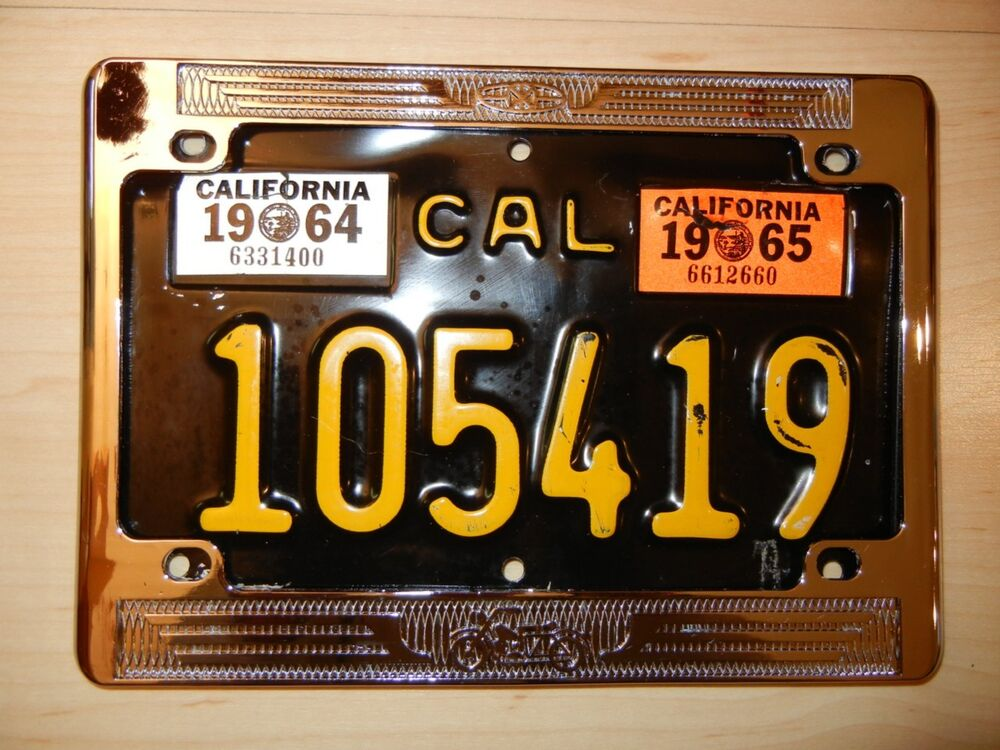 1960 S Large Size 5 Quot X 8 Quot Vintage California Chrome License