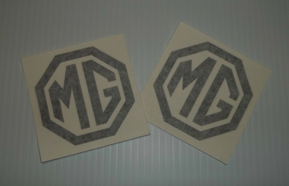 """Truck Stickers For Back Window >> New """"MG"""" Logo 3 inch Badge Decal Sticker Pair MGB MG-B ..."""