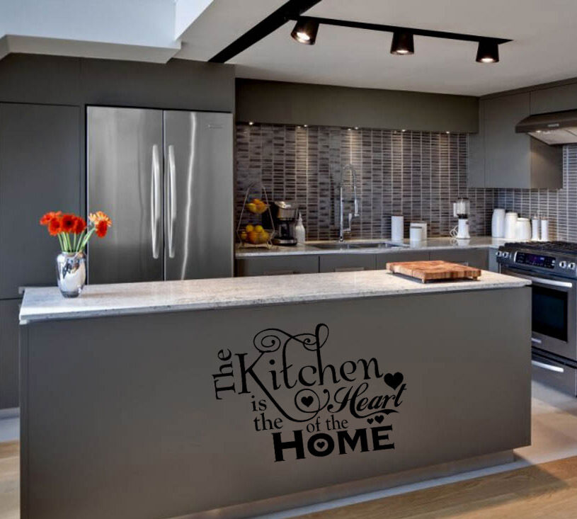 Words For The Wall Home Decor: KITCHEN IS THE HEART OF THE HOME WORDS HOME VINYL DECOR