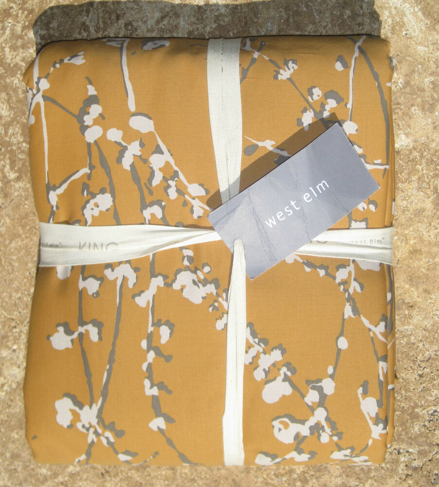 West Elm Cherry Blossom Duvet Twin Or King Cal King