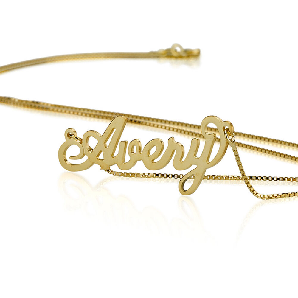 name necklace 18k gold plate personalized name necklace