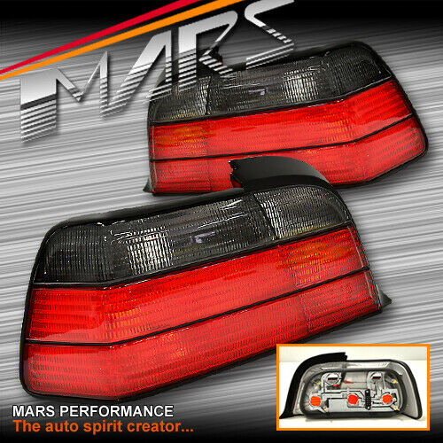 Smoked Red M3 Style Tail Lights For BMW E36 2D Coupe 318i
