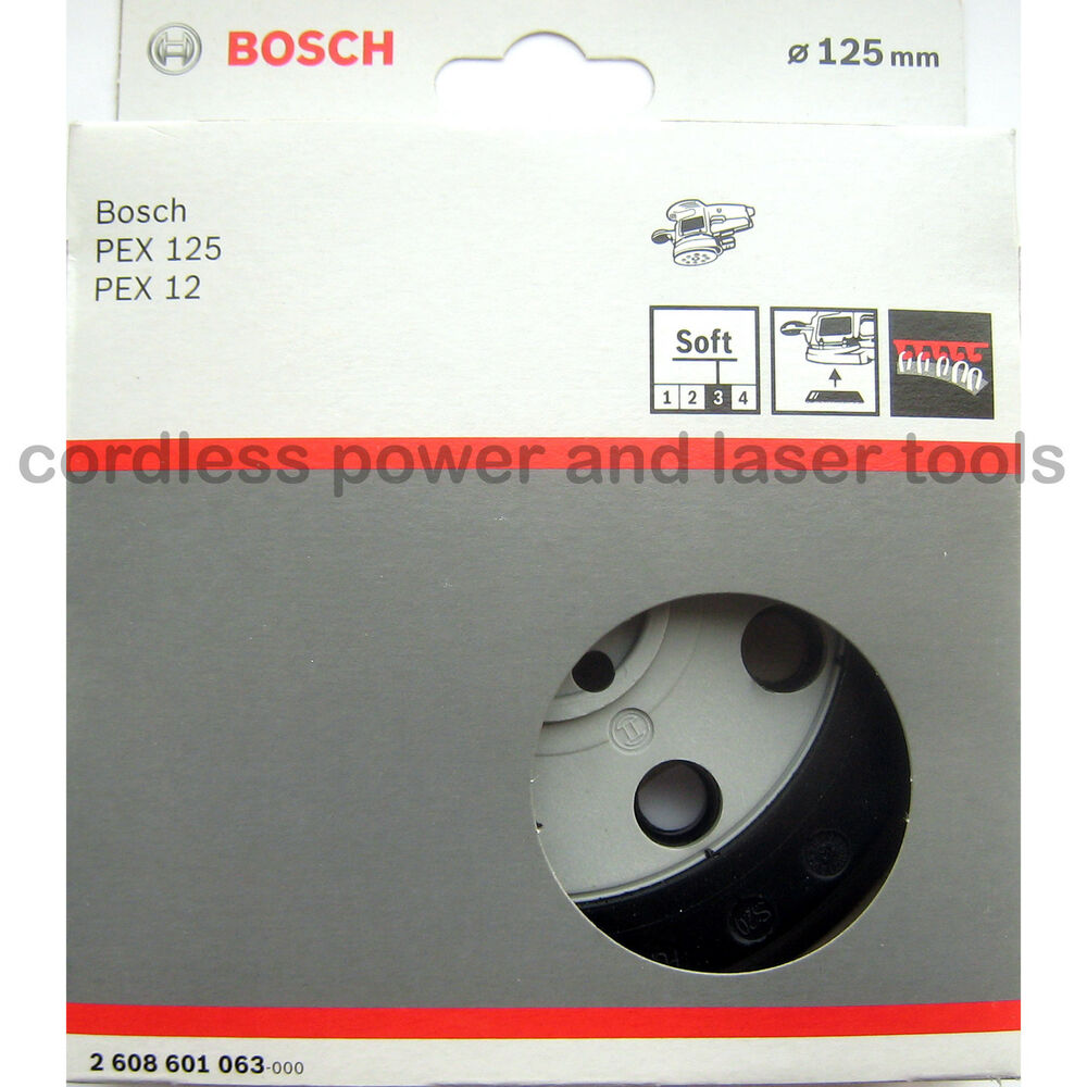 bosch soft sanding backing pad rubber base plate for pex 125 a 2 608 601 063 ebay. Black Bedroom Furniture Sets. Home Design Ideas