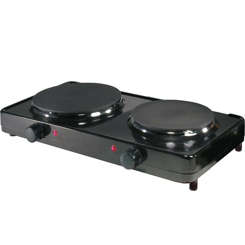 portable freestanding double burner cooktop hot plate dua minil aroma range ebay. Black Bedroom Furniture Sets. Home Design Ideas