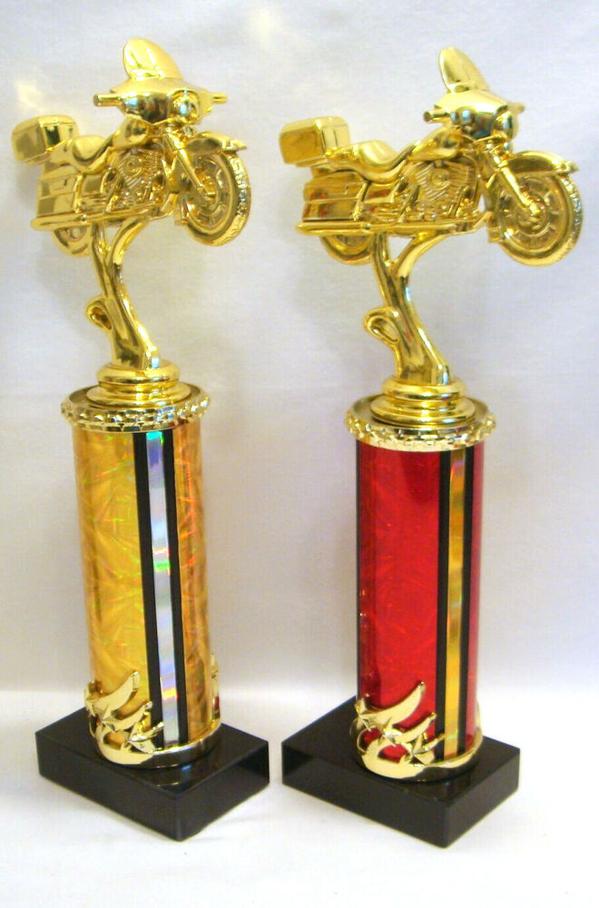 1 RED OR GOLD MOTORCYCLE TROPHY MOTORCYCLE PARTS TROPHY ...