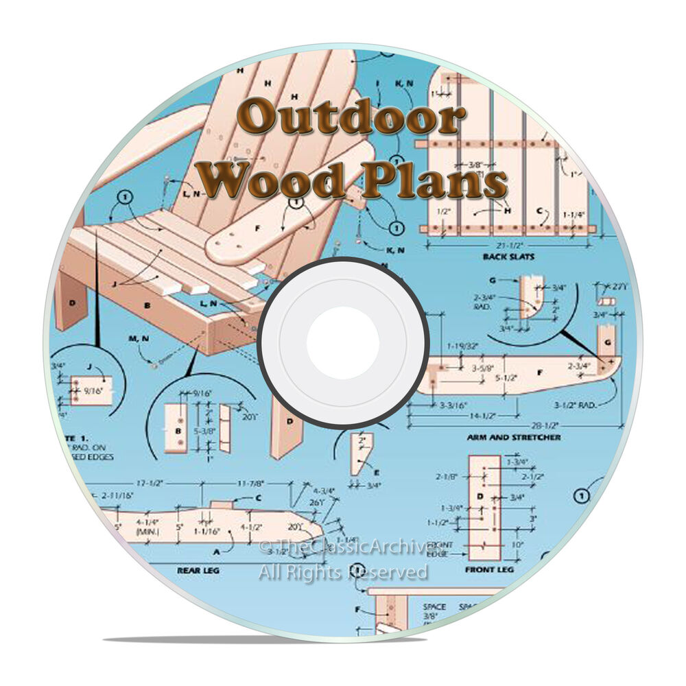 Outdoor patio furniture project plans sheds barns cd for Www projectplans com