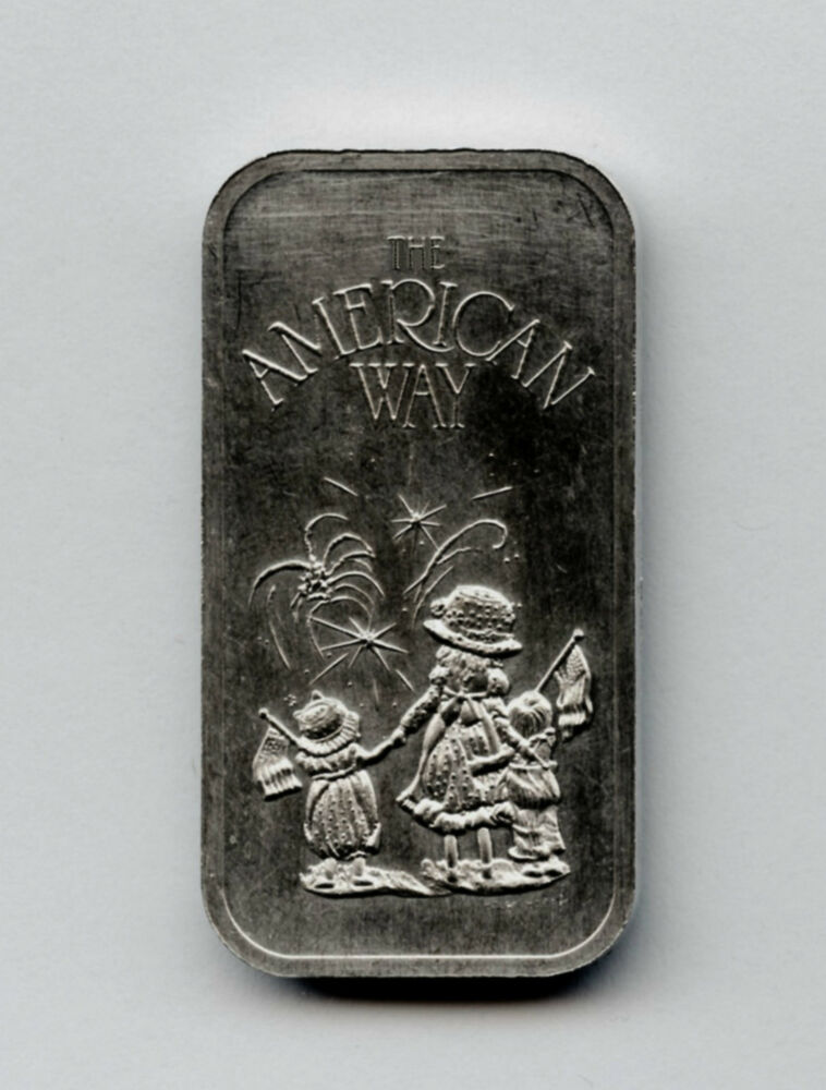 The American Way 20 Gram 999 Rare Silver Art Bar The