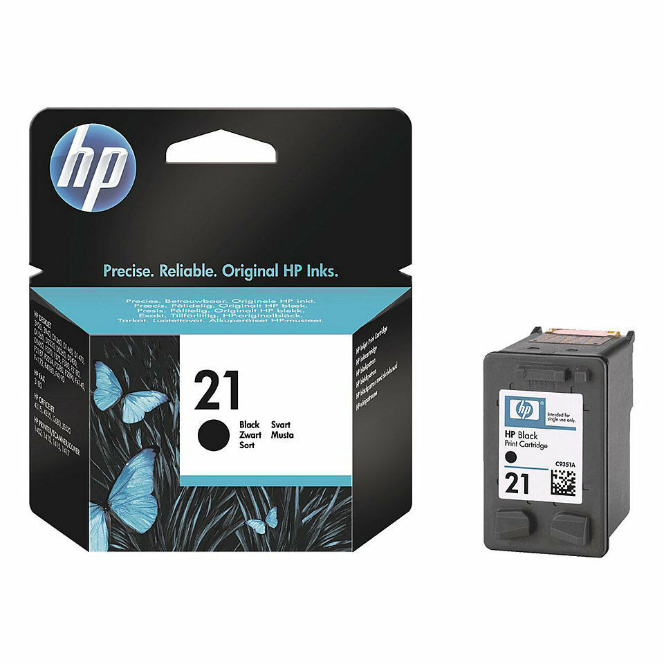 original hp 21 tinte patrone deskjet f2180 f2224 f2280 f4100 f4172 f4180 black ebay. Black Bedroom Furniture Sets. Home Design Ideas