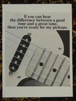 f/ handmade greetings card with music theme SEYMOUR DUNCAN GUITAR PICKUPS