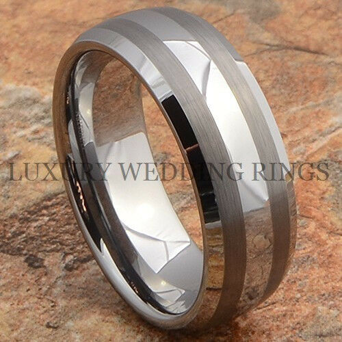 Tungsten Ring Mens Wedding Band Rare Bridal Jewelry Hot