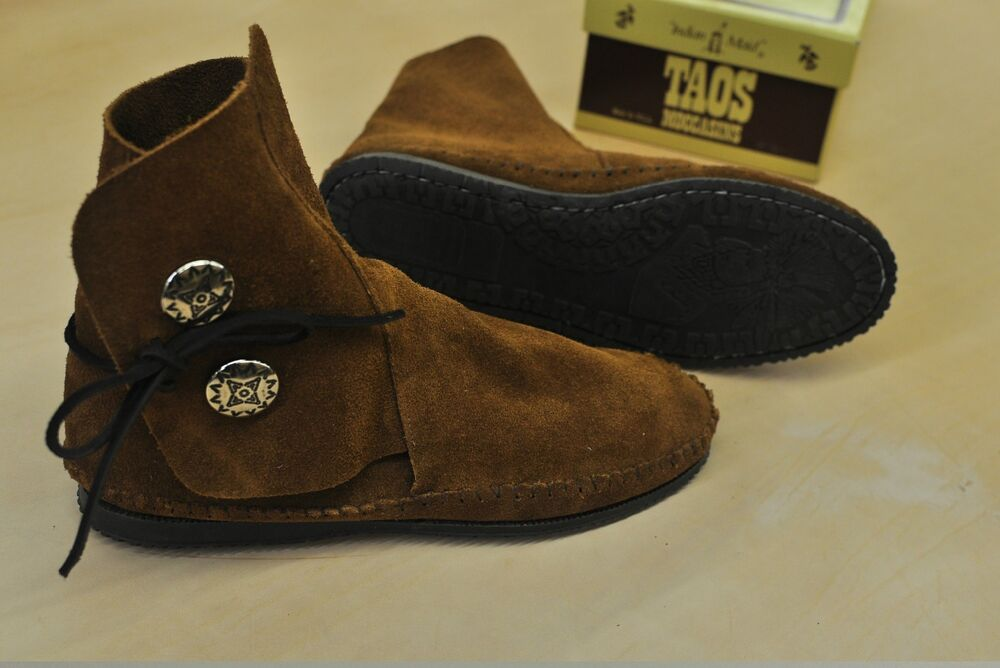 NEW TAOS INDIAN MAID WOMENS MOCCASINS LEATHER 3000W | eBay