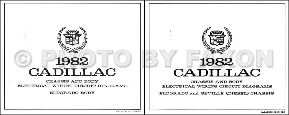 1982 Cadillac Eldorado Diesel Wiring Diagram Color Set Oem