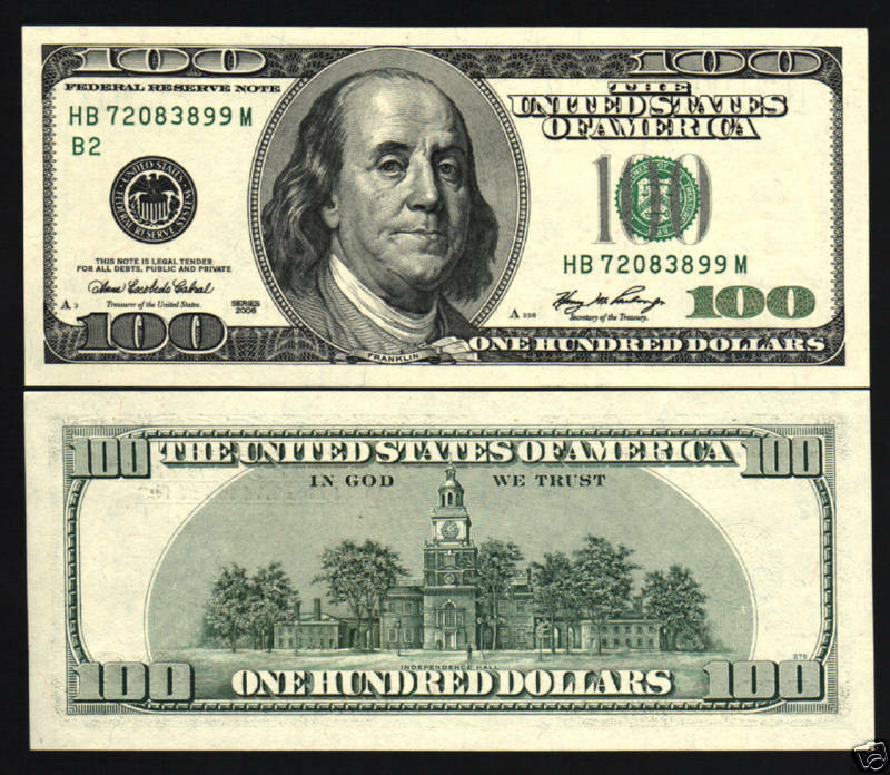 USA UNITED STATES OF AMERICA $100 P528 2006A FRANKLIN UNC BANK NOTE | eBay