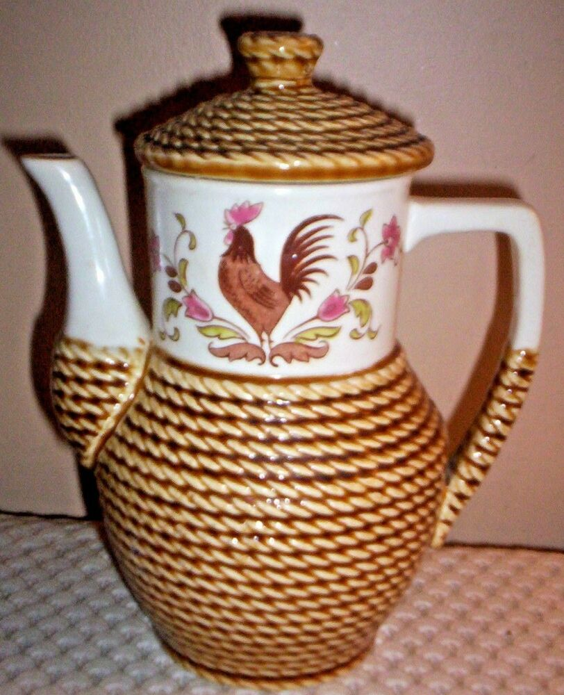 Tilso Hand Painted Vintage Rooster Teapot 60 133 Made
