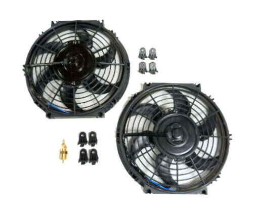 History About The Electric Fan : Quot dual electric radiator fan with degree temperature