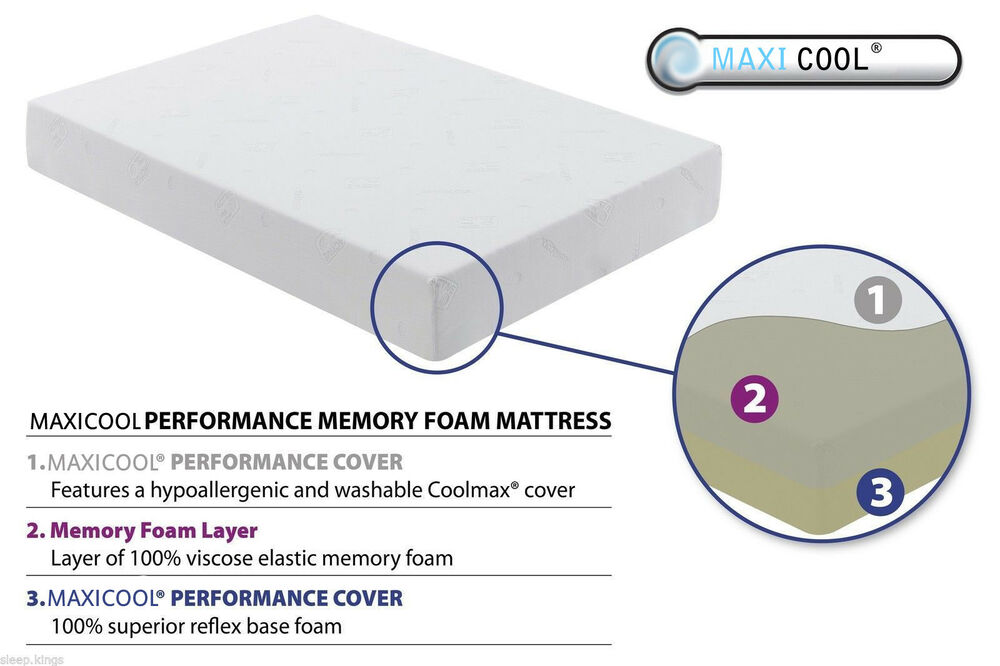Coolmax Memory Foam Mattress 8 6 2 Next Day Delivery Ebay