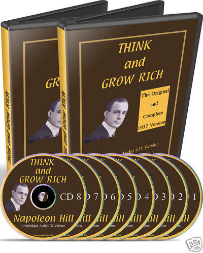 Rich Napoleon Hill Beard King Guys Follow For Daily: Unabridged Think And Grow Rich Napoleon Hill 8 Audio CD