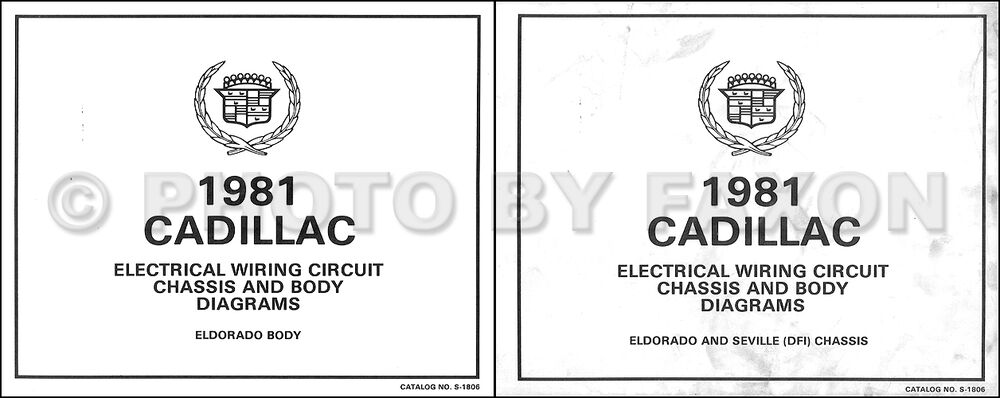 1981 Cadillac Eldorado V8 Gas Wiring Diagram Color Set