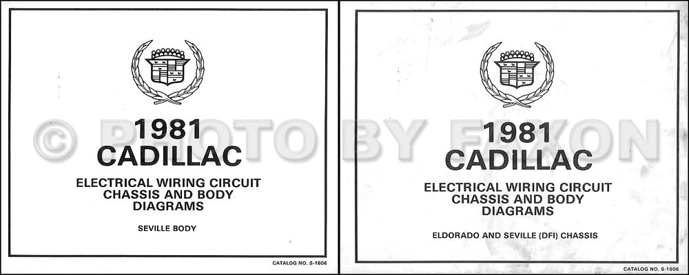 1981 Cadillac Seville V8 Gas Foldout Wiring Diagram