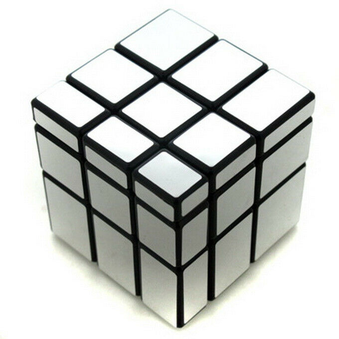 Ghost hand silver black mirror block 3x3 3x3x3 puzzle for Mirror rubik s cube