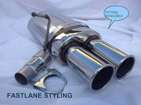 bmw 3 5 series e30 e36 e46 e39 universal stainless performance back box exhaust ebay. Black Bedroom Furniture Sets. Home Design Ideas