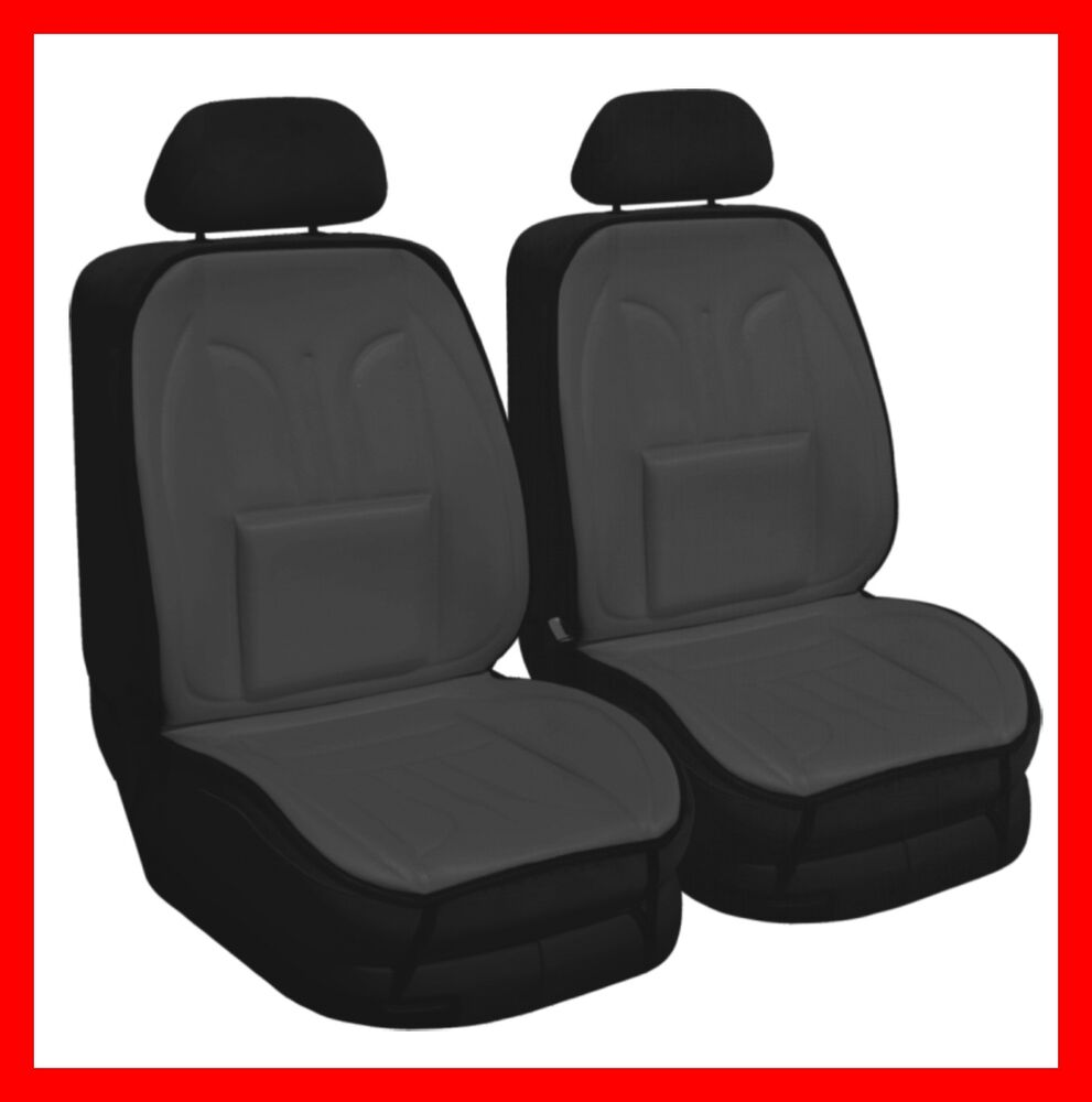 car seat cover cushion pair grey ebay. Black Bedroom Furniture Sets. Home Design Ideas