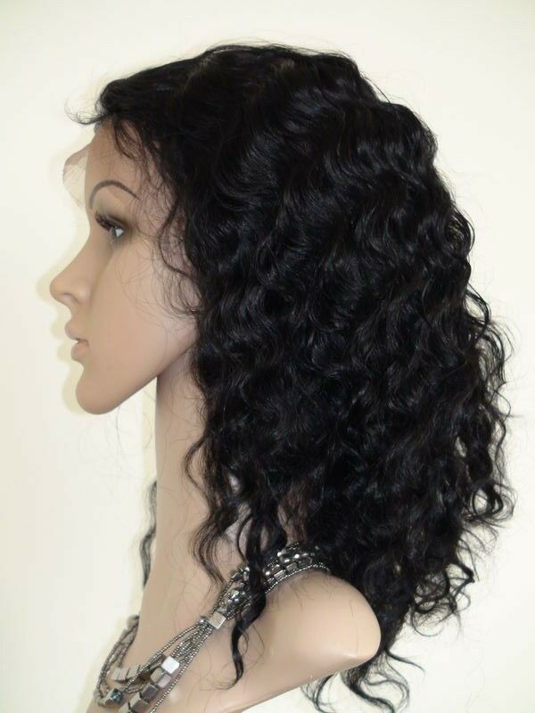 Water Wave French Lace Front Wig 12 Quot 1b Indian Remy Human