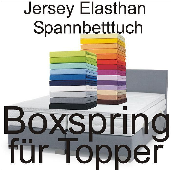 boxspring schlafgut spannbetttuch spannbettlaken f r topper 140x200 160x220 ebay. Black Bedroom Furniture Sets. Home Design Ideas