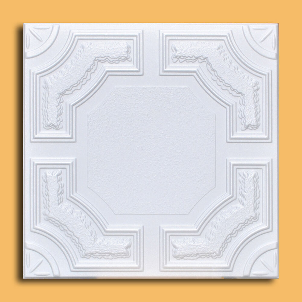100 Pcs Lot Of Caracas White Decorative Ceiling Tile
