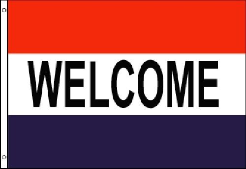 WELCOME Flag Banner 3x5 ft Advertising Sign Business Store ...