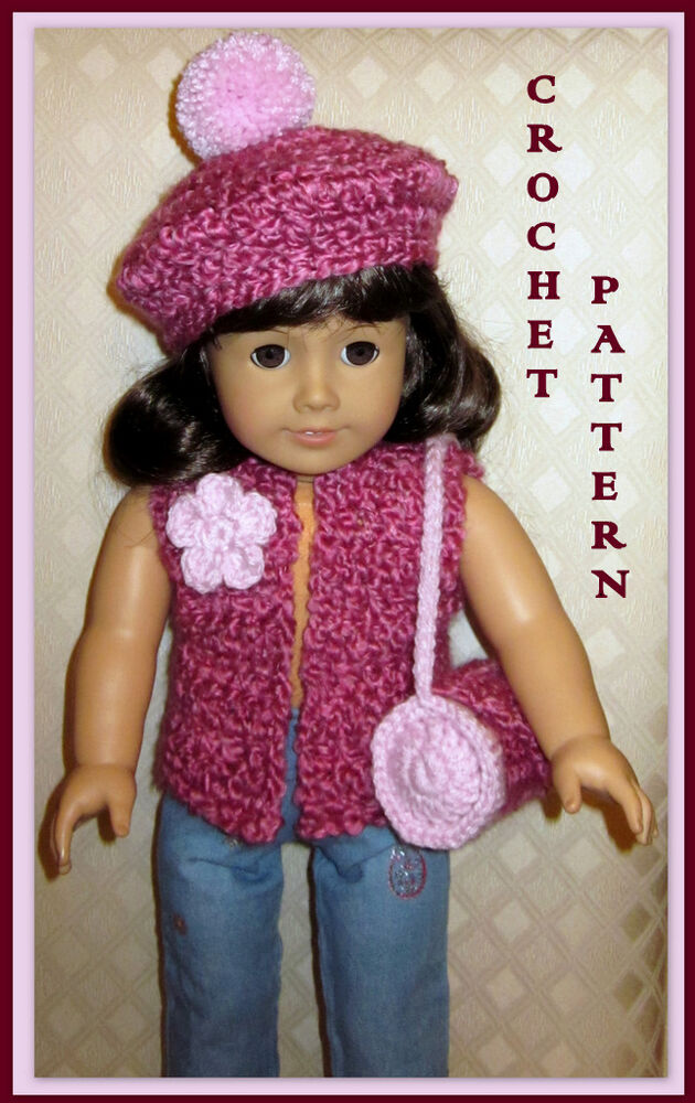 Knit And Crochet Patterns For 18 Inch Dolls : DOLL CLOTHES CROCHET PATTERN FITS 18 INCH AMERICAN GIRL 5.1 eBay
