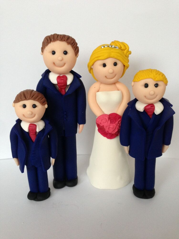 family wedding cake toppers uk handmade family wedding cake toppers and groom 14186