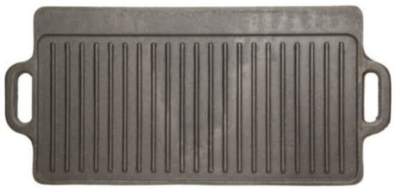 Kitchen Craft Cast Iron Double Sided Griddle Flat Amp Ribbed