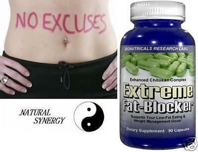 EXTREME FAT BLOCKER CHITOSAN DIETARY FIBER BLOOD SUGAR ...