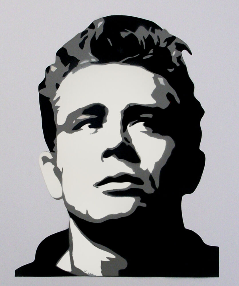 james dean black and white painting - photo #24