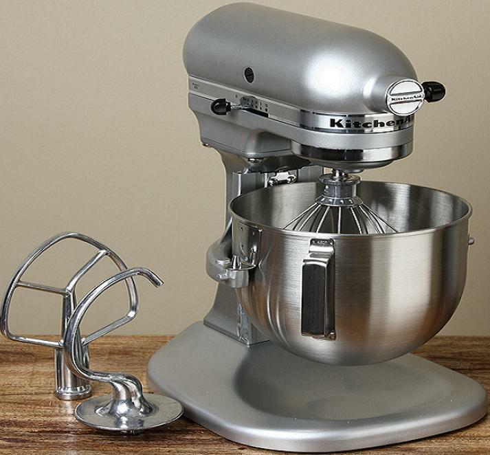 New Kitchenaid Stand Mixer Metal Silver Metalic 4 5 Qt