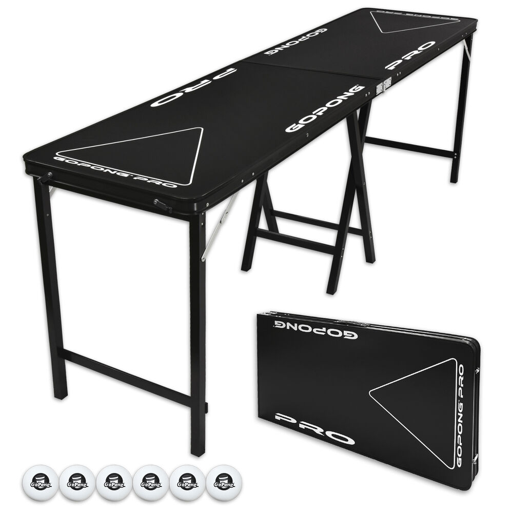 flip cup beer pong party table 8 foot professional. Black Bedroom Furniture Sets. Home Design Ideas