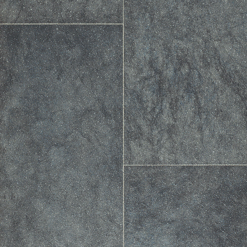 Grey tile rhinofloor vinyl flooring slip resistant quality lino ebay for Slip resistant bathroom flooring