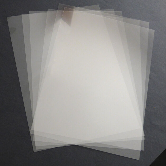2 x a4 stencil sheets 220 micron pvc thin clear reusable